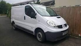 Plumbers van fully lined and racked