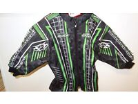wulfsport kids youth motocross quad motox jacket size 24 age 3-4 green black