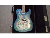 Fender blue flower power telecaster