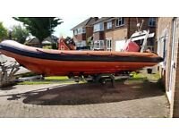 Rigid Inflatable Boat.