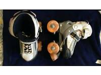 Girls sfr typhoon roller skates size 8-11