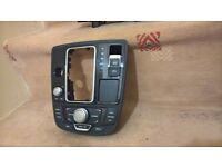 AUDI A6 C7 4G 11- CENTER CONSOLE CONTROL PANEL SWITCH GEAR SELECTOR SHIFTER TRIM