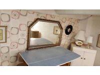 Large Gilt Framed Over Mantle Mirror