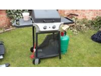 Two burner Blooma BBQ plus almost full propane gas bottle