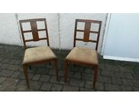 2 Dining Room Chairs (in need of a good home and a bit of TLC)