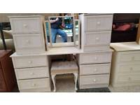 dressing table mirror buffet and 2 x bedsides