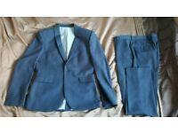 Men's dark blue NEXT suit - jacket 38S trousers 32S