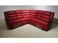 Roma Corner Red Recliner Cupholder Sofa Free Mainland UK Delivery & Free Home Assembly
