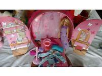 Barbie butterfly bed case