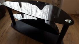 Black Glass TV Unit