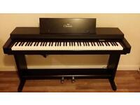 Yamaha Clarinova Digital Piano (Black Colour) - 88 Weighted Keys - Good Working Order