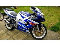 GSXR 600 K1 LOW MILES NEW CHAIN & SPROCKETS NEW DISCS & PADS