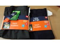 👍BRAND NEW School trousers for boys age 8-9 navy and gray👍