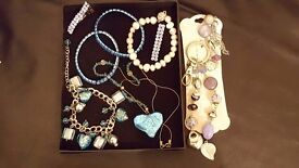 bundle of costume jewellery - silver turquoise colours see image £6