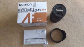 Tamron SONY FIT SP AF 28-75mm F/2.8 XR Di LD Aspherical (IF) Macro lens