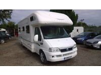 fiat ducato motorhome 18 jtd, bessacarr e765 back to back, 2006 registration, 26,000 miles