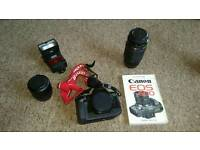 Canon EOS 630 with accessories