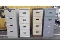 Various 4 drawer filing cabinets for sale
