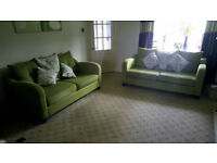 TWO 3-SEATER SETTEES