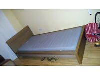 single bed with mattress. ikea