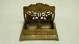 ornamental brass trinket box