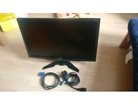 "Acer 24"" LCD TFT HDMI Wide screen Monitor great condition with cables"