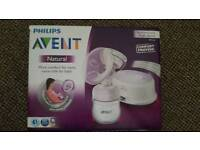 Avent Natural Electric Breast Pump plus 7 bottles nearly new