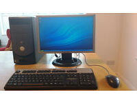 Dell Dimension 2400 Desktop PC and Hanns-G Monitor
