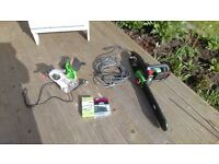 Electric Chainsaw, Spare Unused Chain and Electric Chain Sharpener