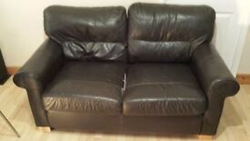2 seater leather sofa. Free to collector