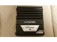 CAR AMPLIFIER ALPINE 700 WATT CLASS D MONOBLOCK AMP DESIGNED FOR SUBWOOFER SUB WOOFER MONO