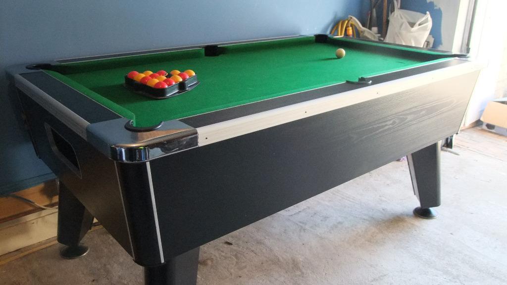 Pub Style Pool Table Slate Bed