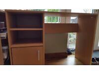 Small office desk beech effect