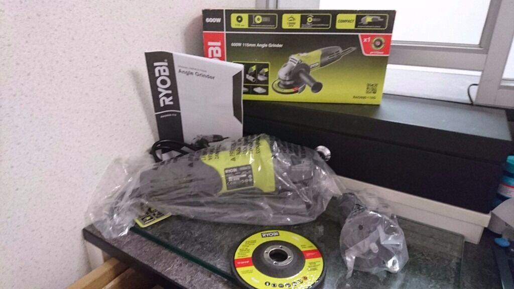Ryobi RAG600-115G 600w 115mm Angle Grinder BRAND NEW