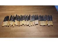 Butter knives. 20p each.