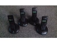 BT Landline Phones, Set Of 4