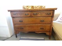 *Vintage chest of drawers solid wood* (delivery )