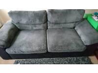 Grey and black three seater sofa