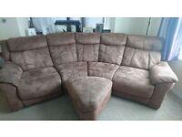 LA-Z-Boy Suedette brown sofa