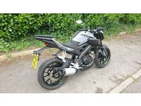 Yamaha MT125 ABS 2016 (66)- NITRO GREY - ONE OWNER - Excellent Condition!