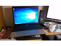 Compaq Presario CQ70 Laptop, large screen, windows 10
