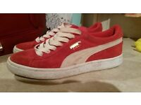 ladies red puma trainers size 5