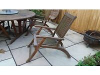 Strong Wooden Garden Dining Table and 6 Chairs.