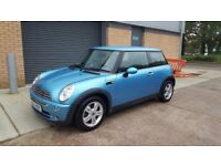 2005 Mini One 1.6 blue excellent condition