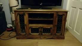 Wooden tv unit.