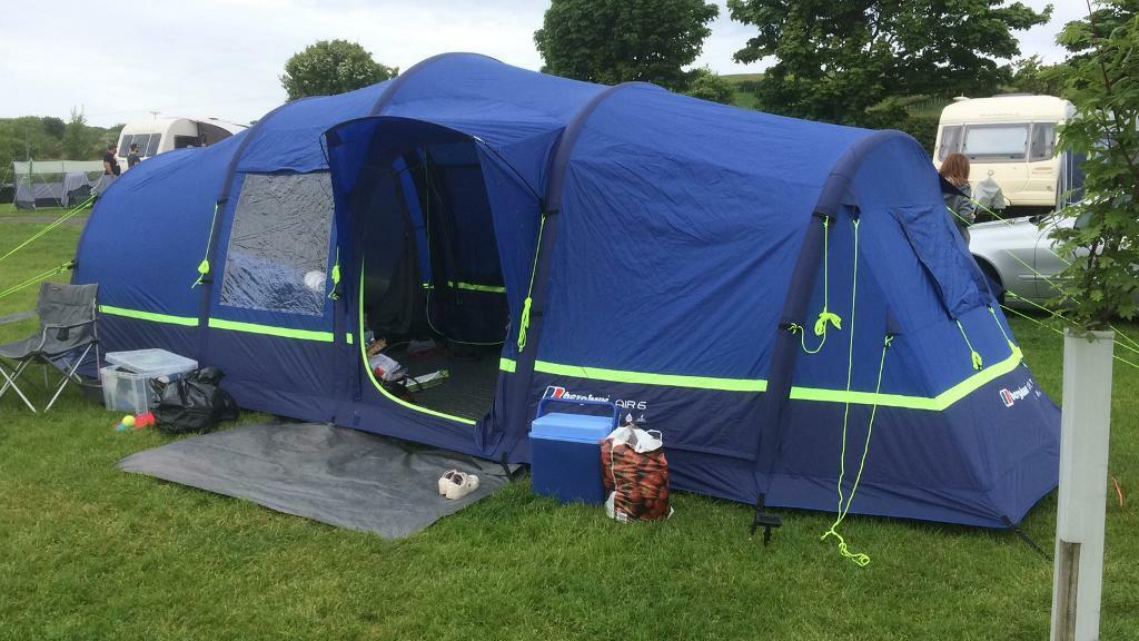 88e3d430c Berghaus Air 6 ( pump up tent)   official footprint mint used x4 nights ...