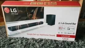 LG 2.1 soundbar and subwoofer (LG LAS355B)