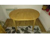 Soft wood extendable dining room table