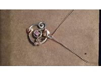 Clogau Welsh gold necklace as new condition