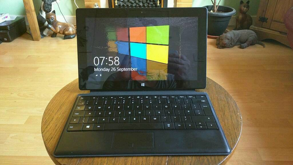 Microsoft surface RT windows 8.1in FalkirkGumtree - Microsoft surface RT 32 gig and 128 gig SD card comes with Microsoft touch keyboard charger..exe condition